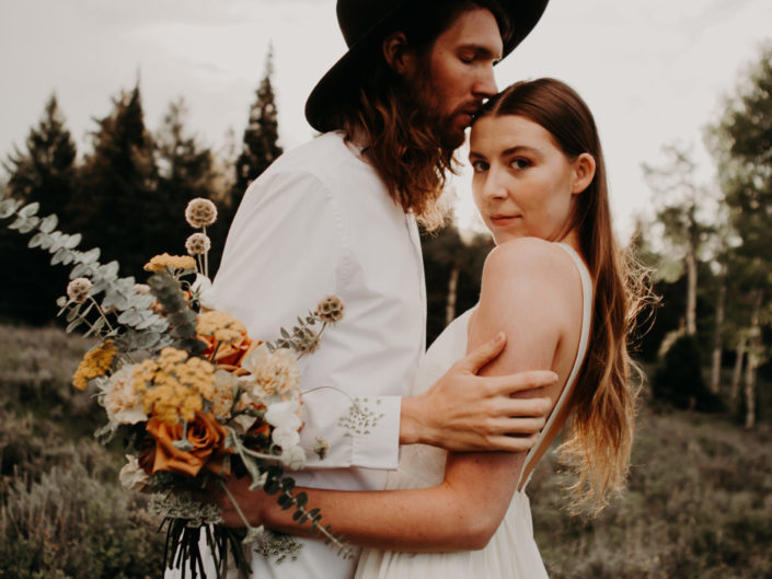 Steph + Clark Styled Mountain Elopement