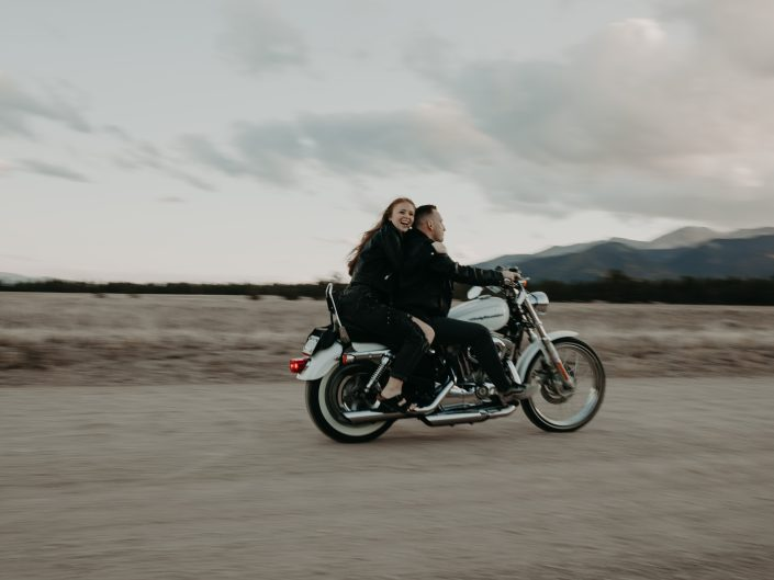 Audrey + Mike's Motorcycle Engagement Session