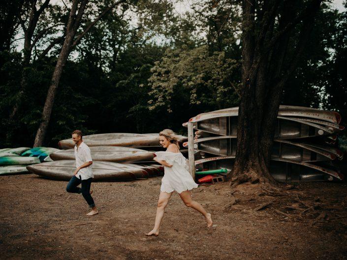 Lauren + Sam's Canoe Adventure Engagement Session