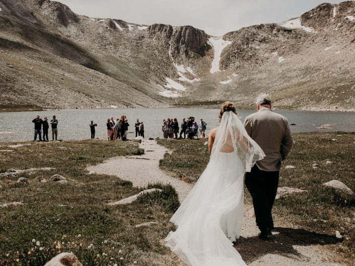 Amanda + Phil's Intimate Mountain Lake Wedding